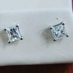 Photo Of Cavas Jewelry Paramus Nj United States Princess Cut Studs