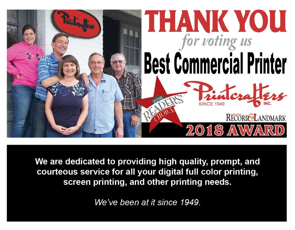 Printcrafters: 115 W Water St, Statesville, NC