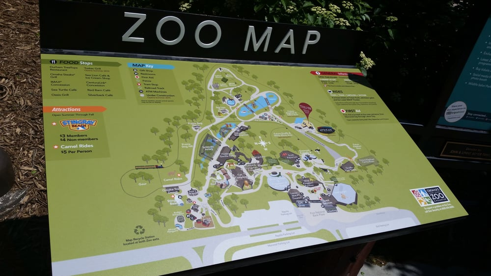 Zoo map by the entrance. - Yelp