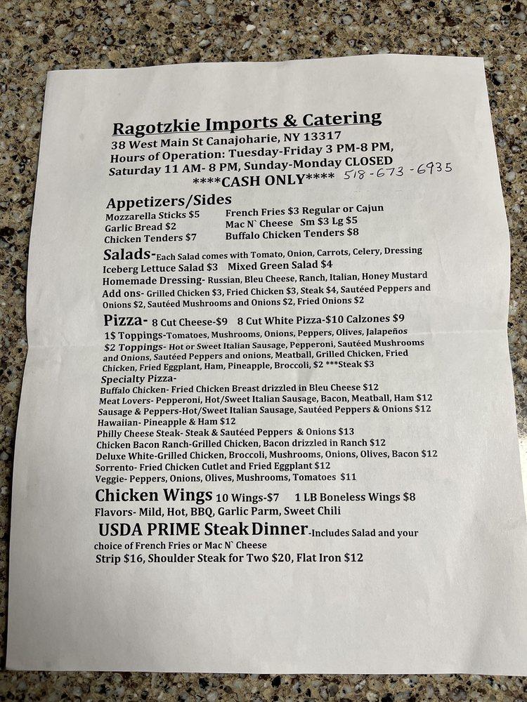 Ragotzkie Imports and Catering: 38 W Main St, Canajoharie, NY