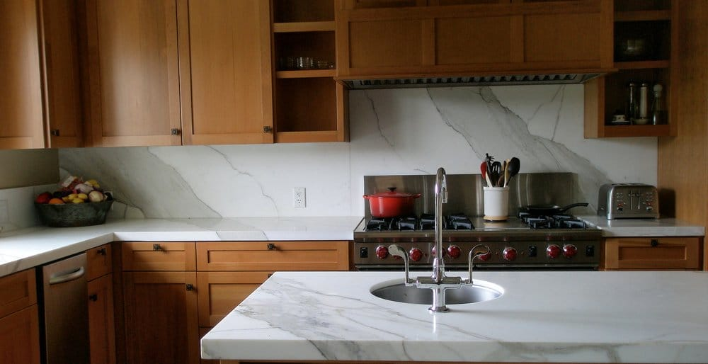Calacutta Oro Marble With A 1 1 2 Quot Mitered Square Edge Yelp