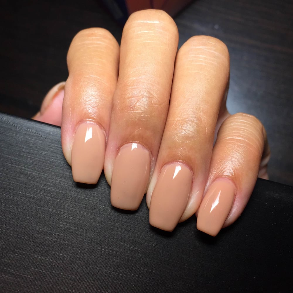 So nude it almost blends with my skin color. LOL. Gel color: 124 - Yelp