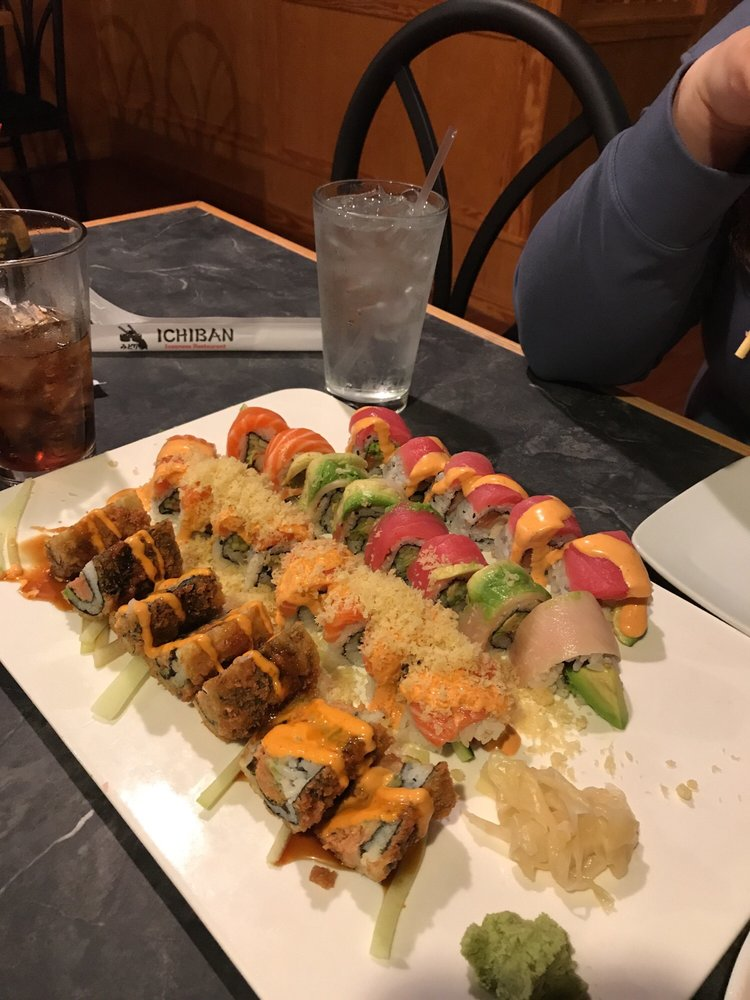 Food from Ichiban Japanese Steak House