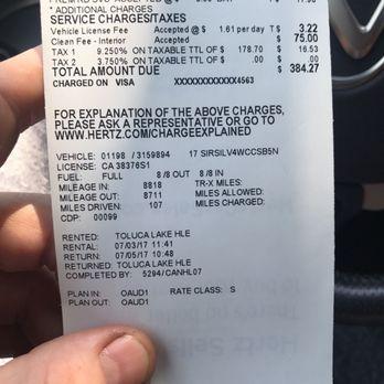 Hertz Rent A Car - 4426 Lankershim Blvd, Toluca Lake, North