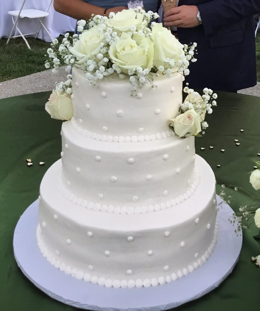 Beautiful vanilla wedding cake with buttercream icing for my ...
