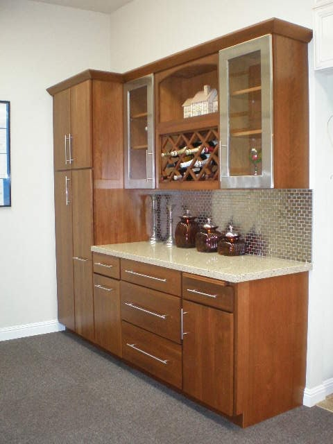 kitchen cabinets san carlos vail display by dynasty nutmeg stain on cherry yelp 21148