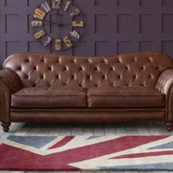 Photo Of The Chesterfield Co Manchester United Kingdom Arundel Vintage Brown Leather Sofa