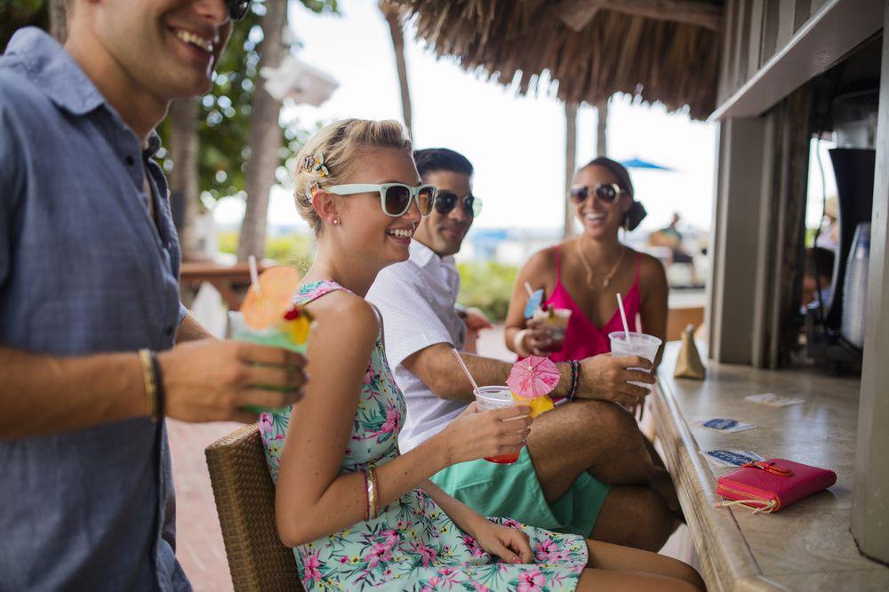Salty's Tiki Bar and Beach Lounge: 5500 Gulf Blvd, St. Pete Beach, FL