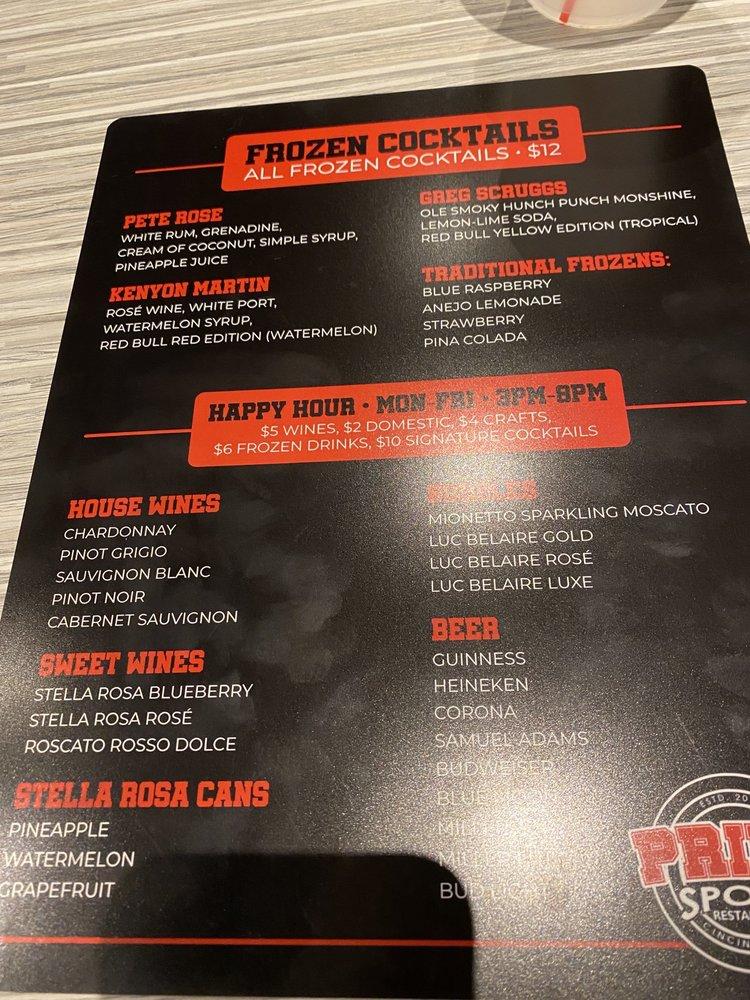 Prime Sports Restaurant: 6040 Colerain Ave, Cincinnati, OH