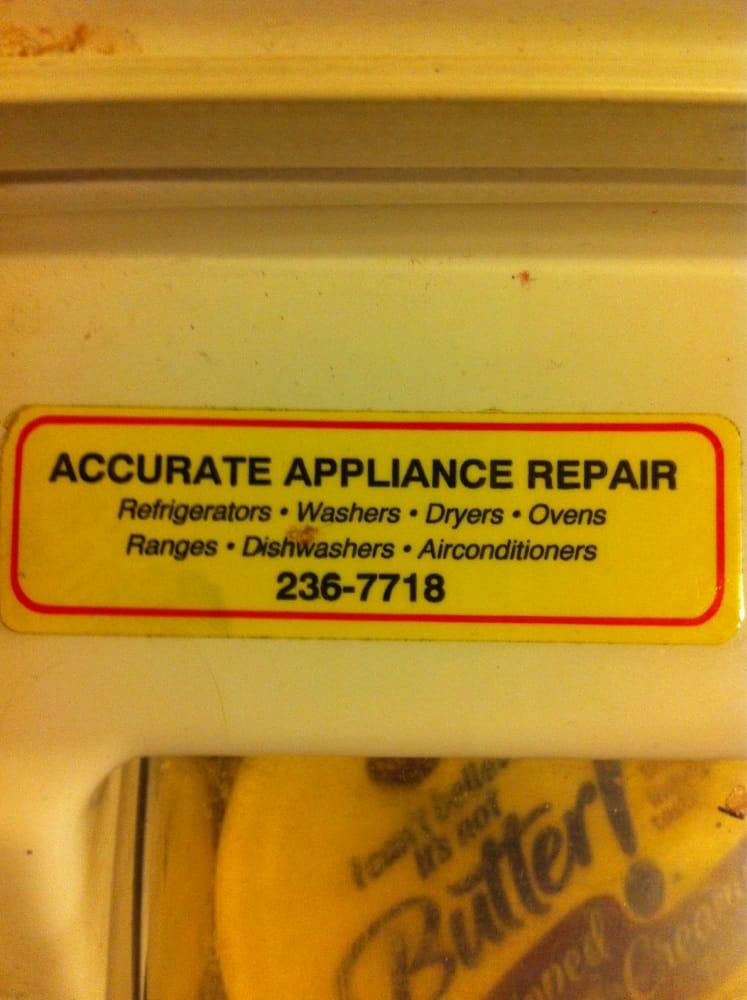 Accurate Appliance Repair 40 Reviews Appliances