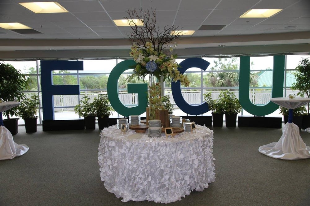 Centerpieces done for FGCU Chartwells Catering - Yelp