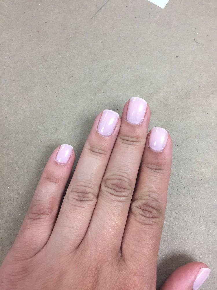 Very streaky finish on my manicure. - Yelp