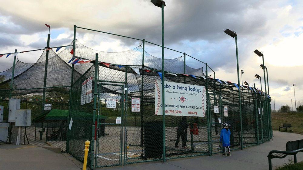 Cornerstone Park Batting Cages: 5098 S Windermere St, Littleton, CO