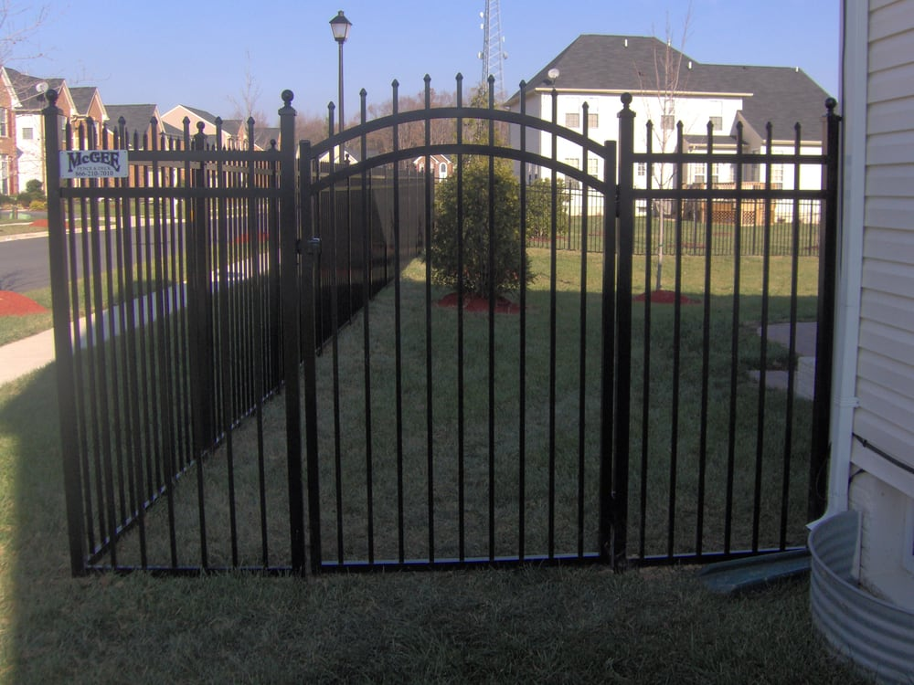 Jerith Aluminum Fence With Arched Gate Yelp