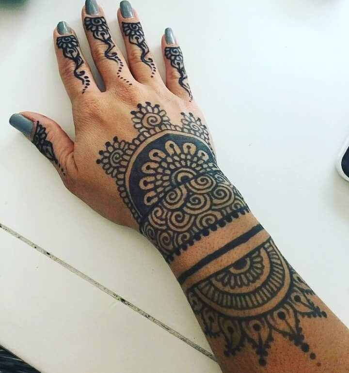 Jagua Tattoo Its Similar To Henna But Its Made From A Fruit In The