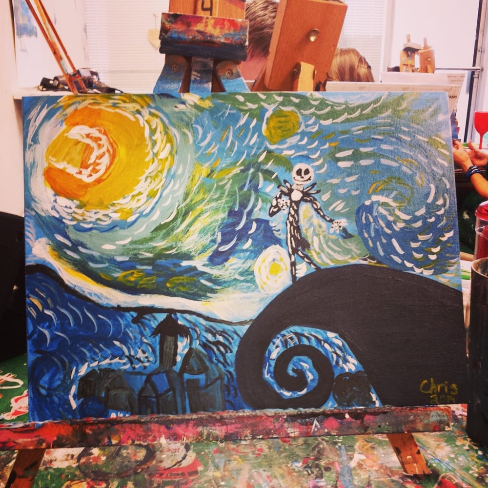 Deviant art version of A Starry Night with A Nightmare before ...