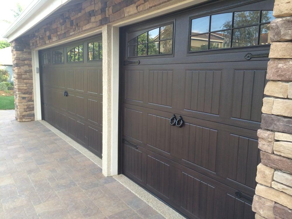 Wayne dalton 8300 walnut sonoma panel class yelp for Wayne dalton garage door window inserts