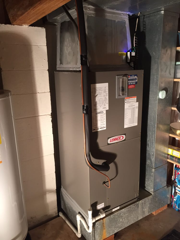 Lennox Air Handler With Aux Heat And Uv  Note The Removable Inspection Port On The Condensate