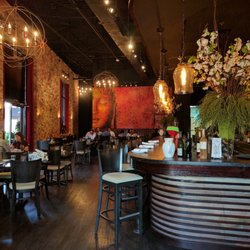 Photo Of Songkran Thai Kitchen Houston Tx United States Indoor Dining Area