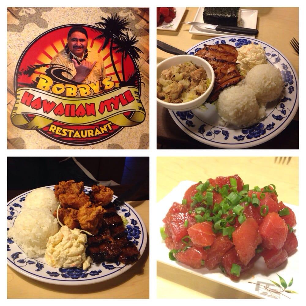 From the top left clockwise menu teri chicken kalua