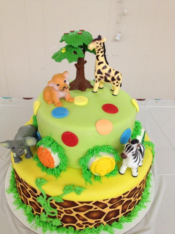 states jungle theme baby shower cake ain 39 t this just too cute