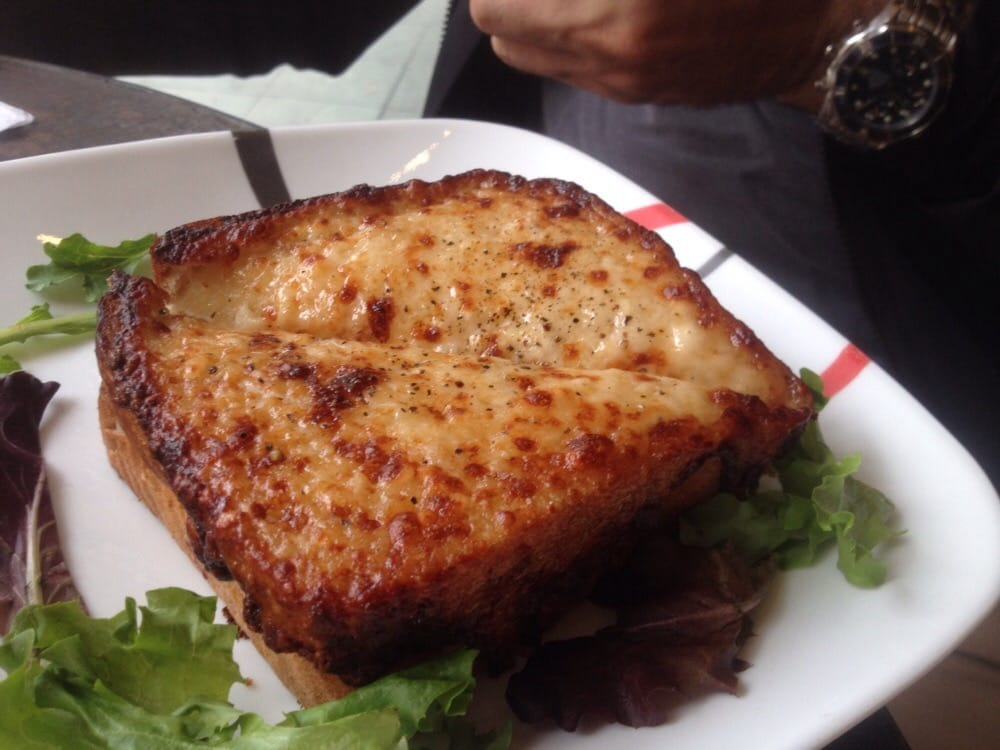 Croque monsieur a wonderful warm toasted sandwich of ham swiss cheese and cr me fra che yelp - Croque monsieur au four creme fraiche ...