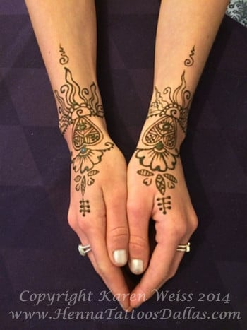 It 39 s fun when henna is a collaboration this customer for Henna tattoo dallas