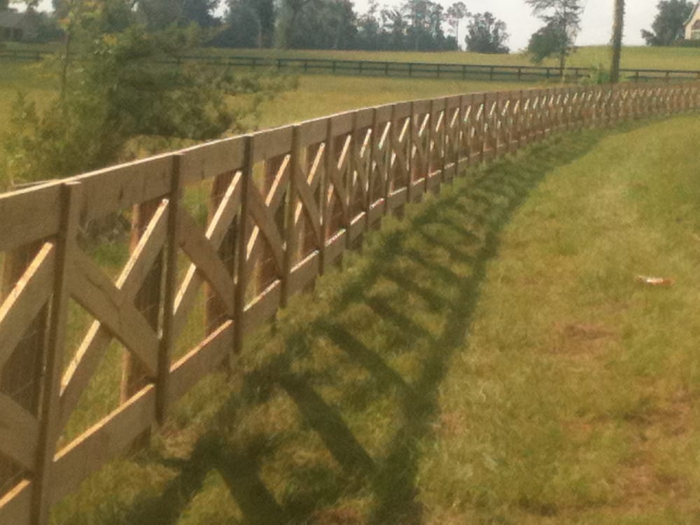Cross Buck with field fence wire - Yelp