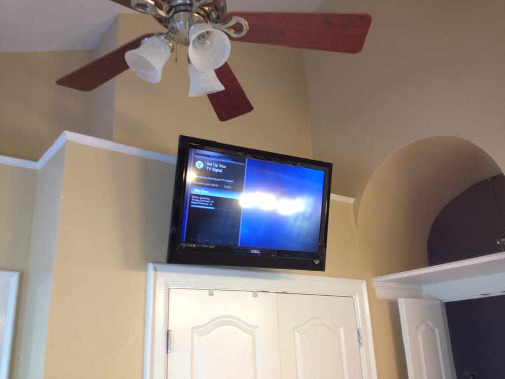 TV wall mount installation over master bedroom closet - Yelp