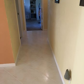 Photo Of Kc Tile Restoration Boynton Beach Fl United States Hallway After
