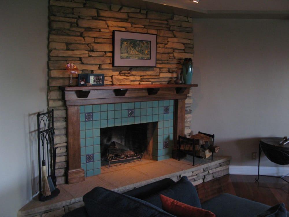 Stone Tile Fireplace Yelp