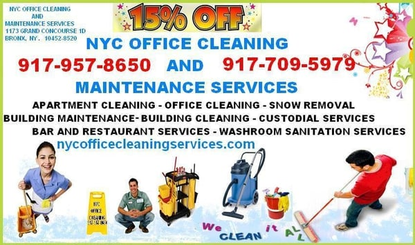 NYC Office Cleaning and Maintenance Services - Home Cleaning - 1173 ...