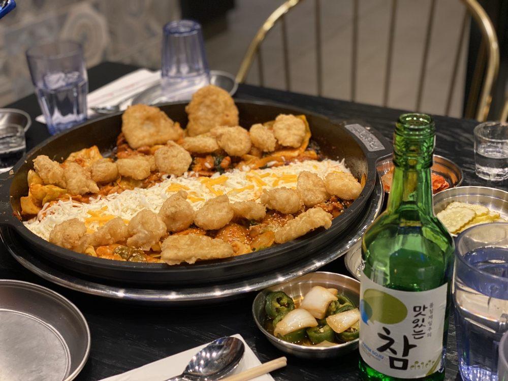 Food from Hong Chun Cheon Cheese Dak galbi