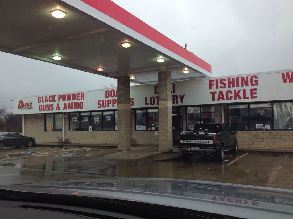 Dave's offers tackle, guns, ammo, deli, lottery, water sports