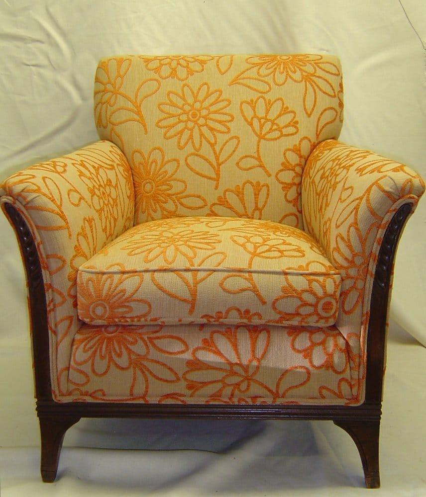 Orange Floral Club Chair Yelp
