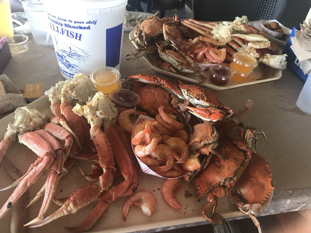 Waterman's Seafood Special with Half a Dozen Crabs, Four Clusters of