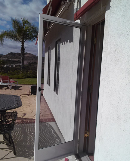 screen doors are made with aluminum frame or steel frame