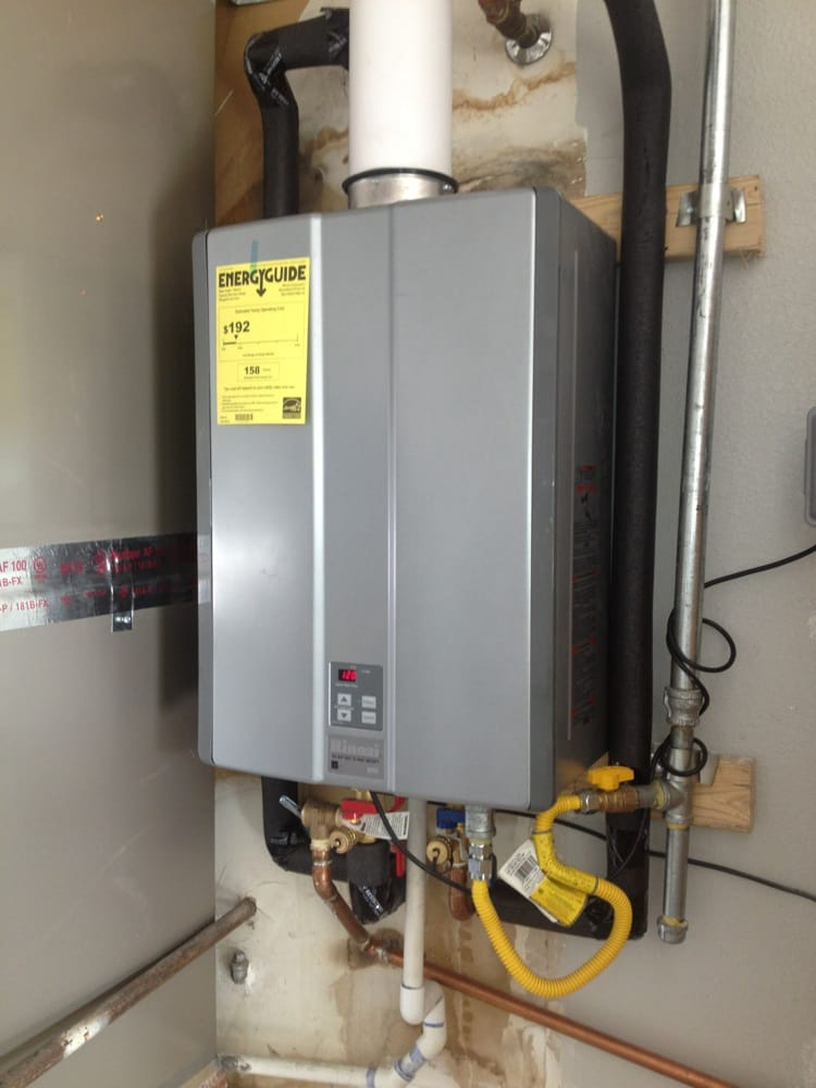 Mounting Tankless Water Heater : Rinnai ru tankless water heater installation yelp