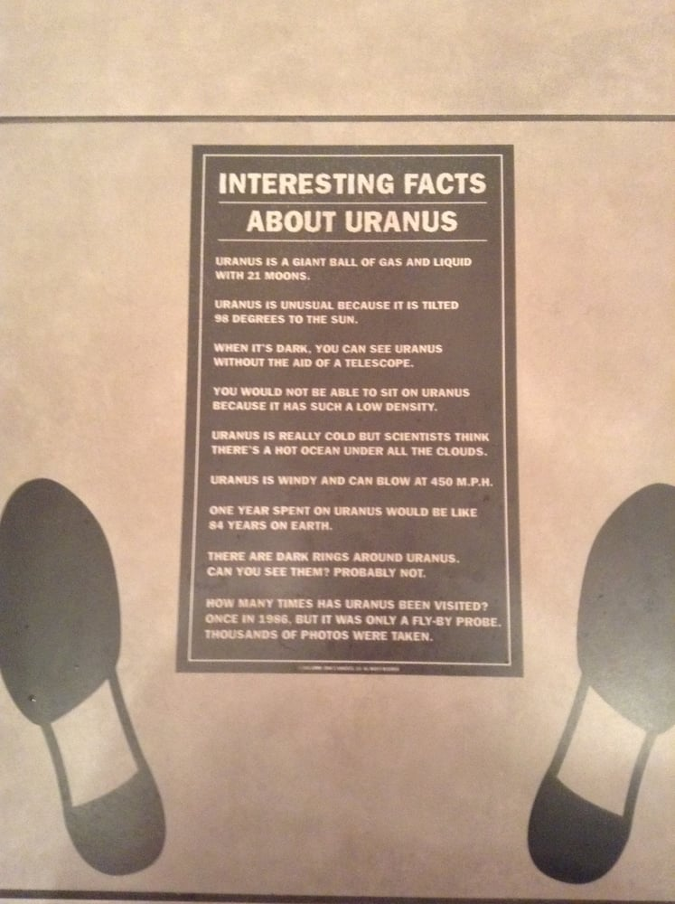 Cool Facts About Uranus On The Bathroom Floor Yelp