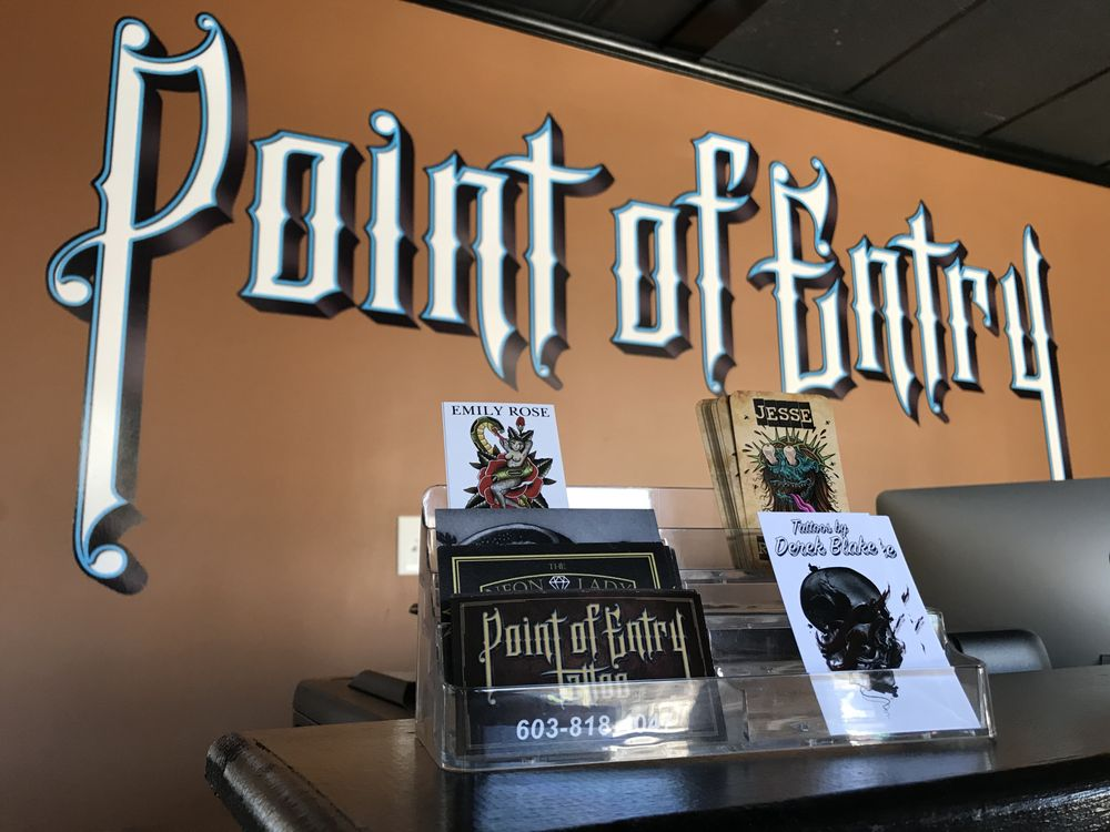 Point of Entry Tattoo: 127 Rockingham Rd, Derry, NH