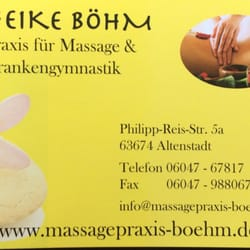 heike b hm massaggi philipp reis str 5 a altenstadt hessen germania numero di telefono. Black Bedroom Furniture Sets. Home Design Ideas
