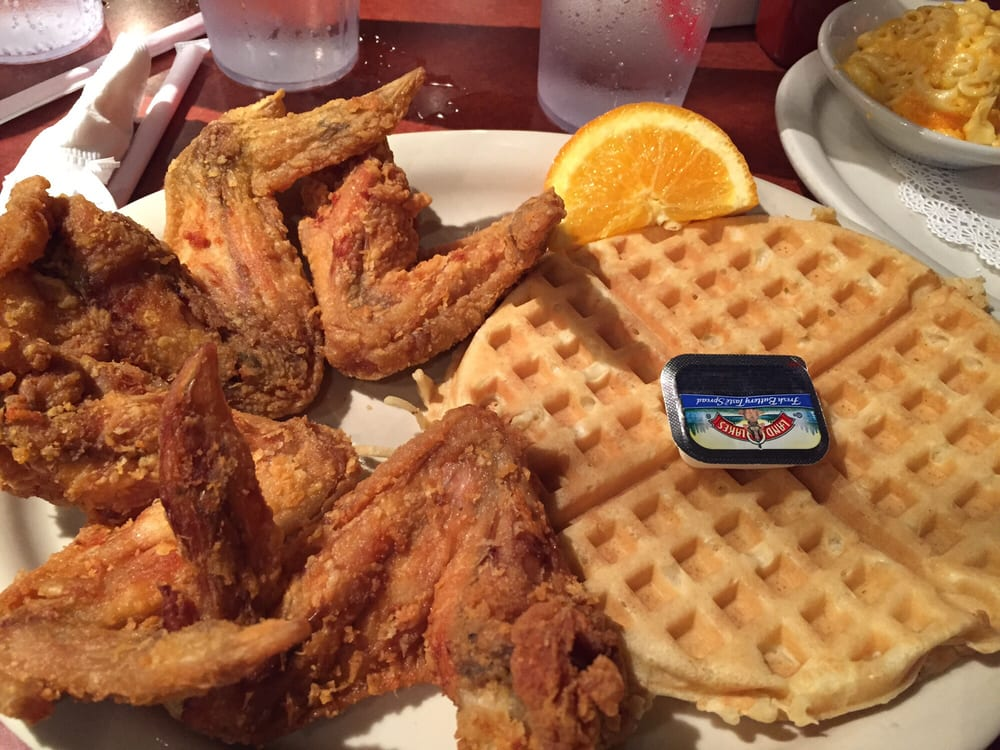 Jumbo chicken wings and waffle taste so great yelp for Jj fish and chicken