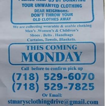 St Mary S Church Clothing Pick Up Brooklyn