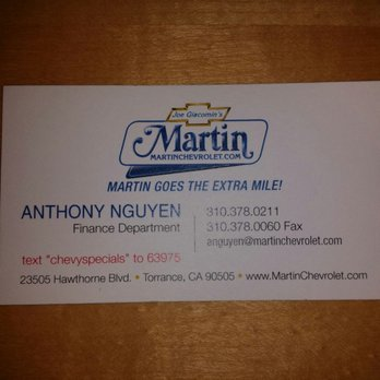 Photo Of Martin Chevrolet   Torrance, CA, United States. Great Service  Please Work