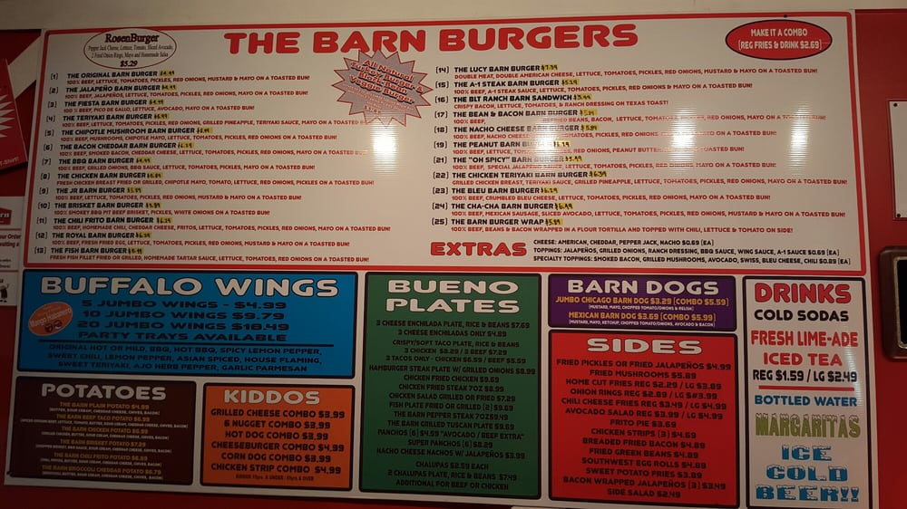 Giant Menu On Wall Just Left Of Counter Where You Place