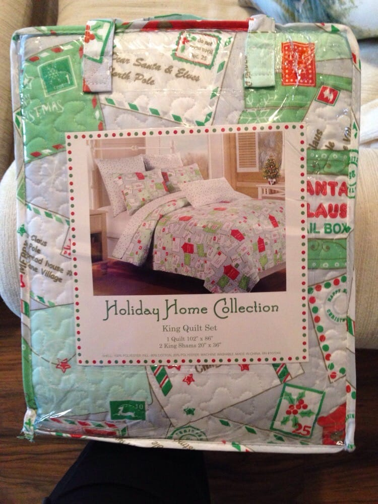 This is the king size Christmas quilt set that was $59.99 on sale ...