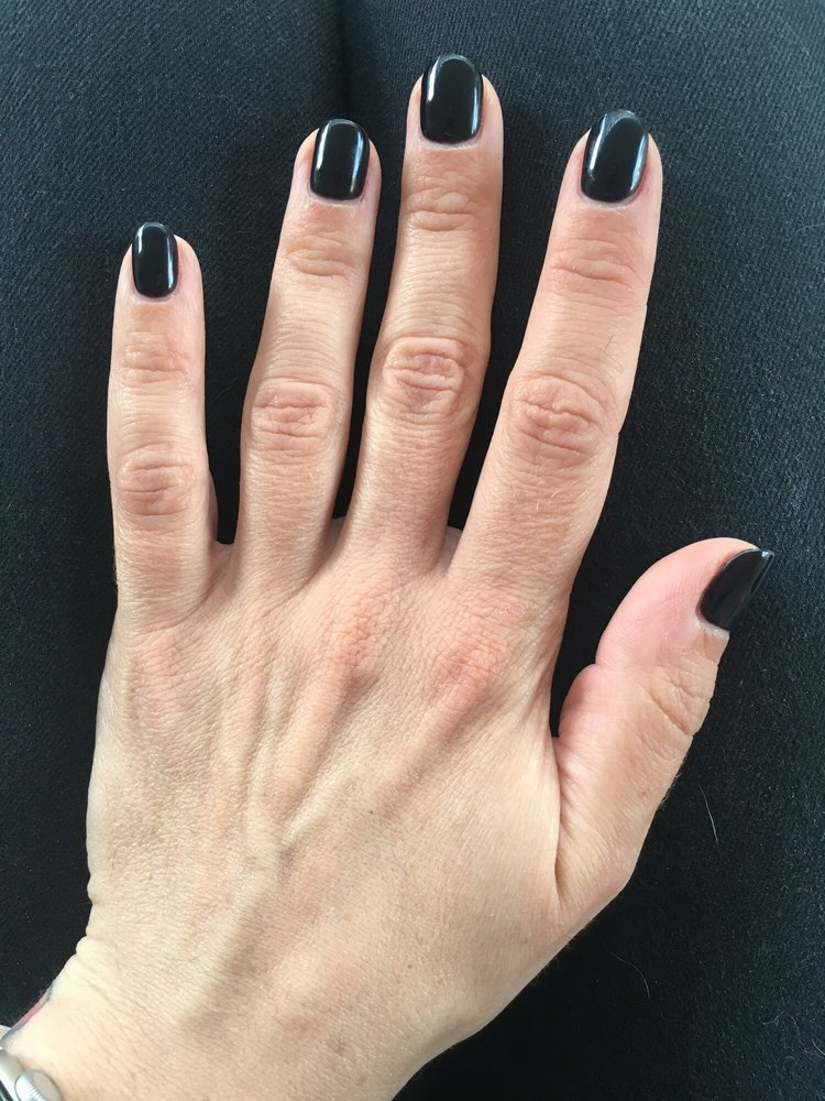A simple gel manicure. Smooth and clean. - Yelp