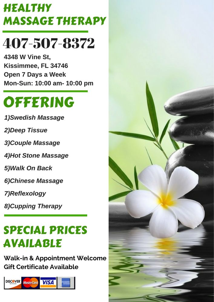 Healthy Massage Therapy: 4348 W Vine St, Kissimmee, FL