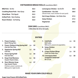 Betel Leaf Cafe Menu