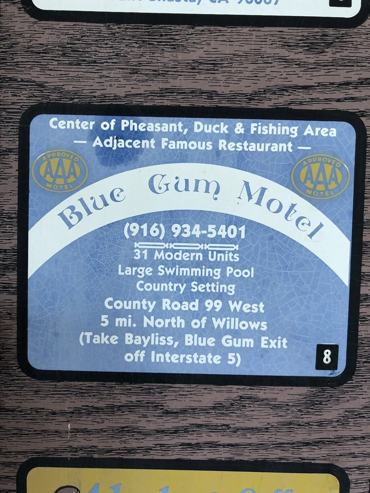 Blue Gum Motel: 2637 County Rd 99 W, Willows, CA
